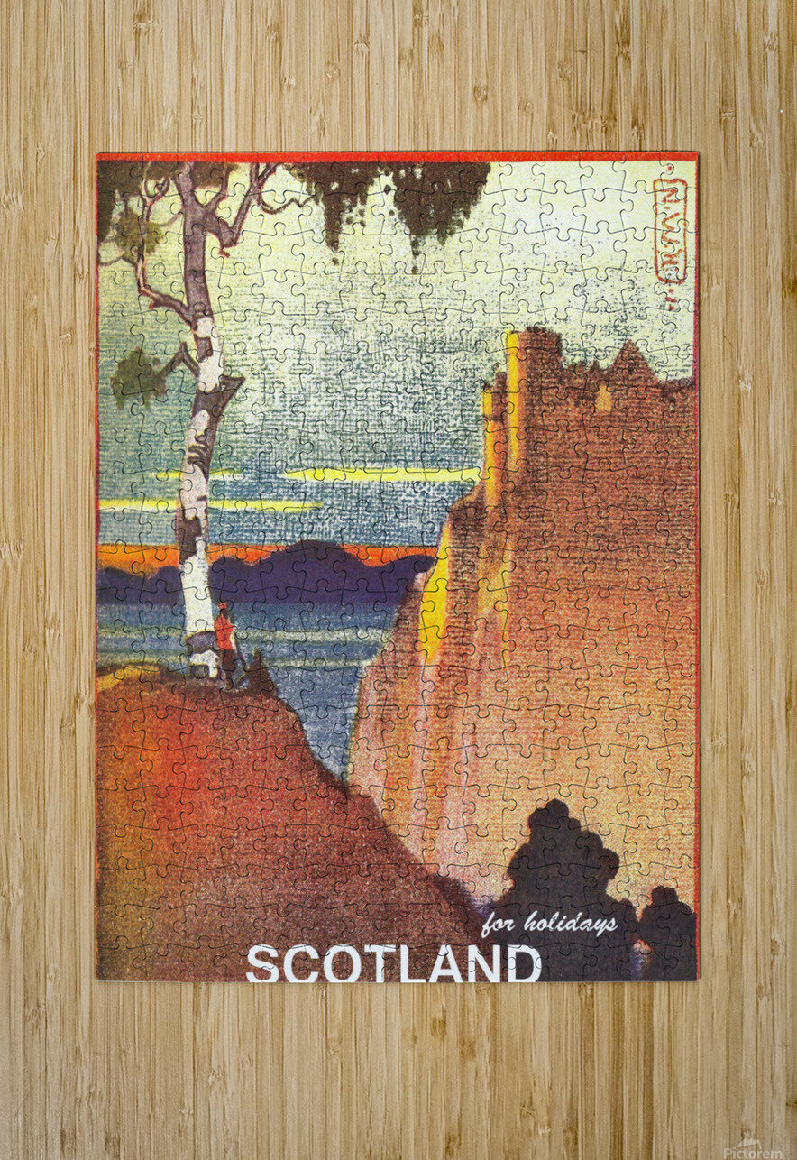 Scotland  HD Metal print with Floating Frame on Back