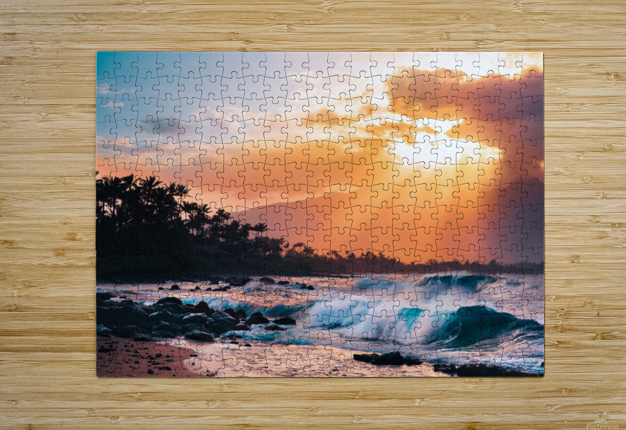 Sunset Paradise  HD Metal print with Floating Frame on Back