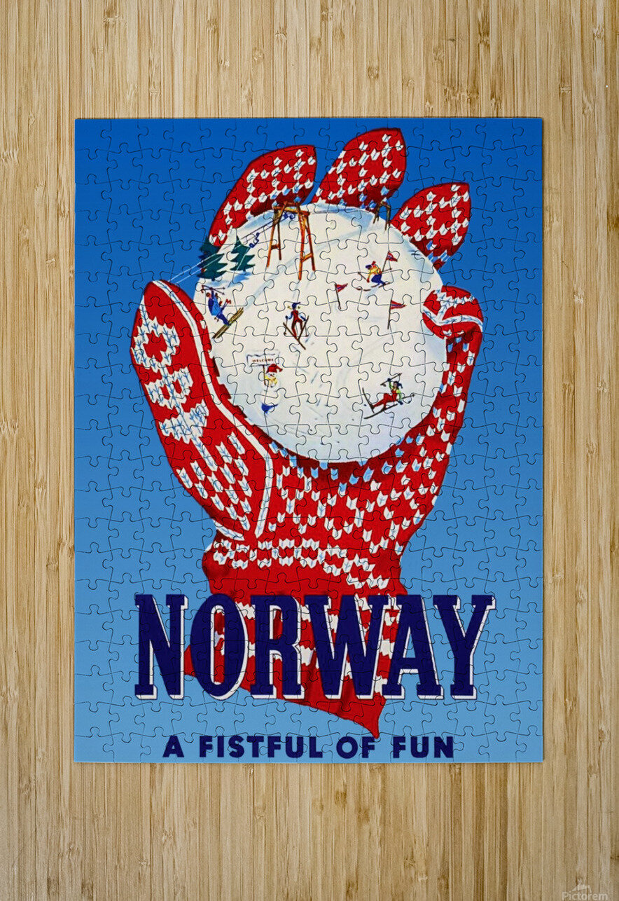 Norway Fistful of Fun  HD Metal print with Floating Frame on Back