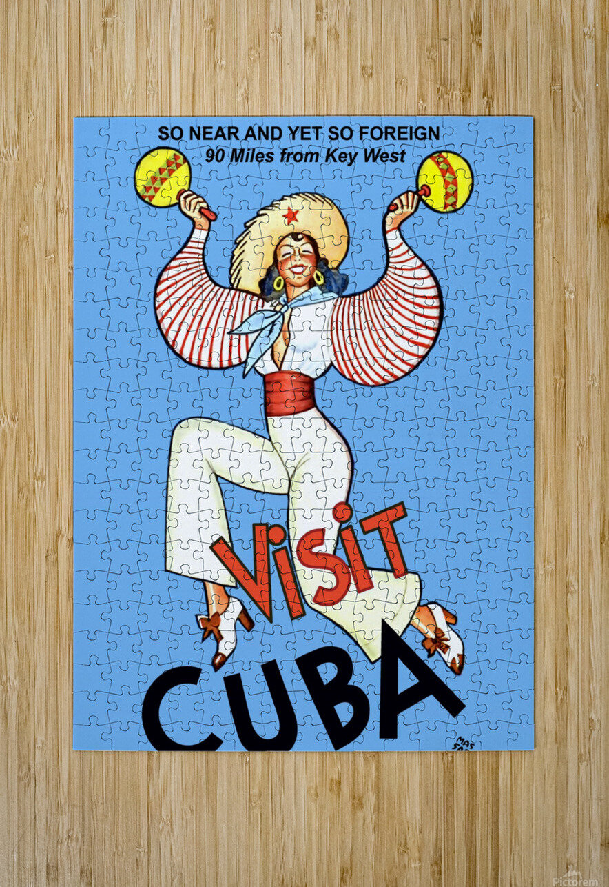 Visit Cuba  HD Metal print with Floating Frame on Back