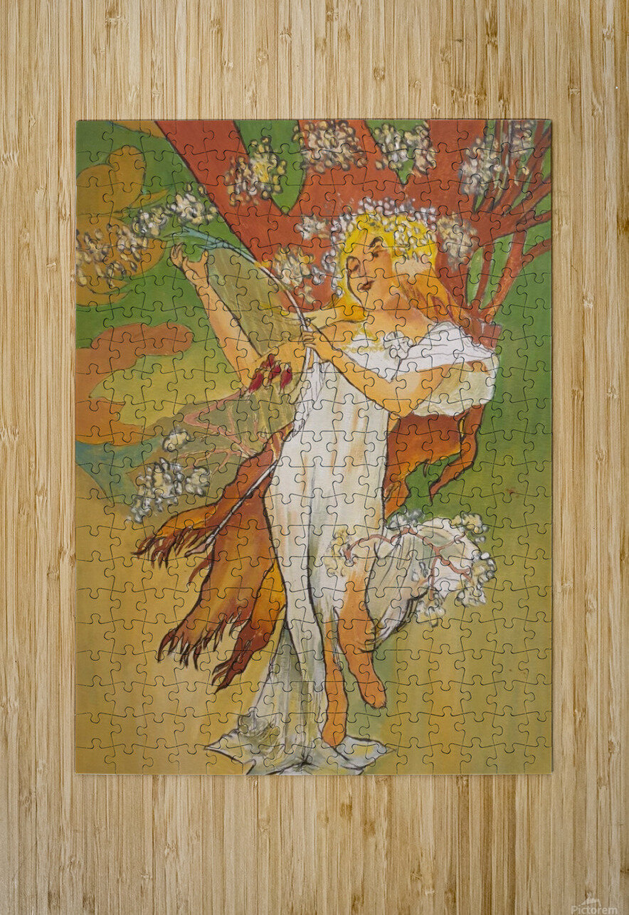 Mucha Spring  HD Metal print with Floating Frame on Back