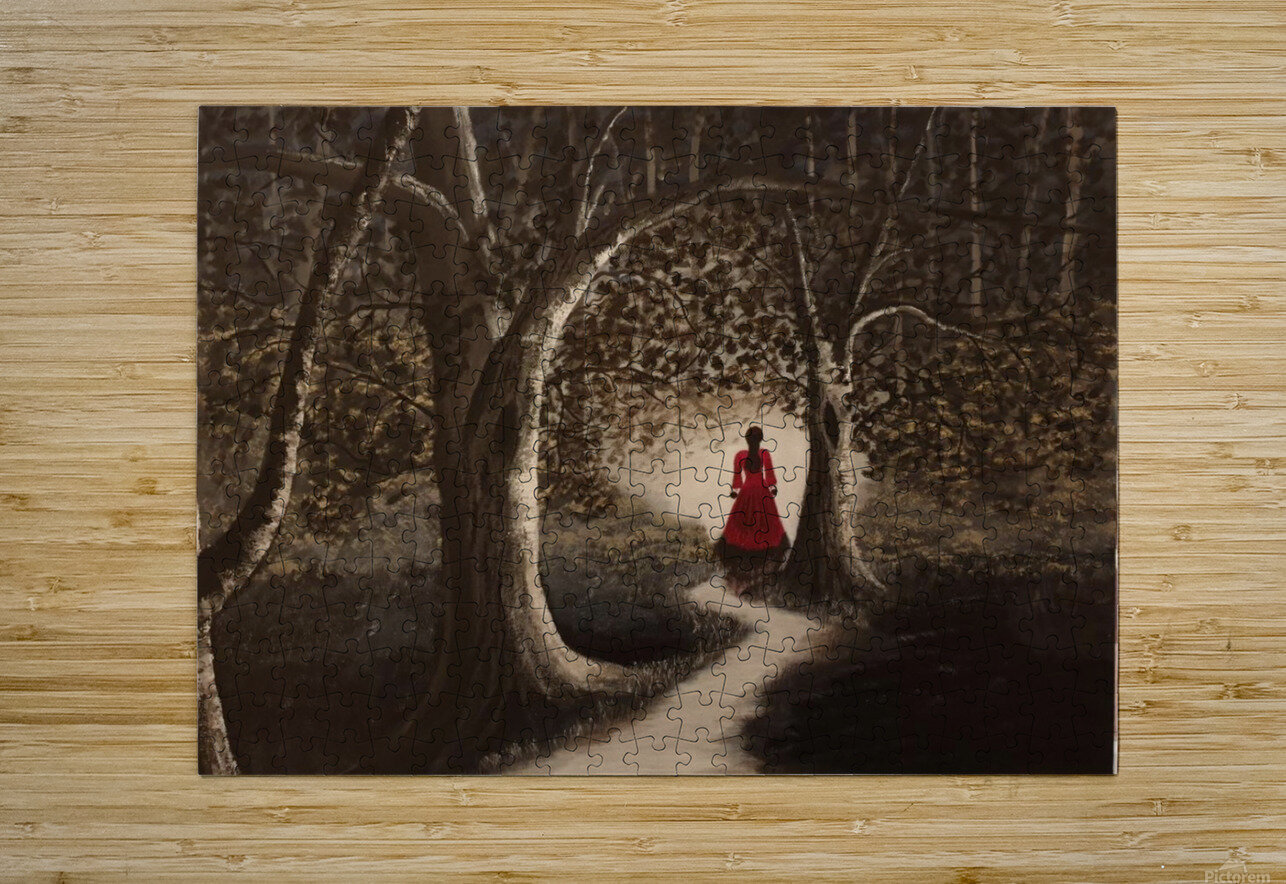 Lady in red2  HD Metal print with Floating Frame on Back