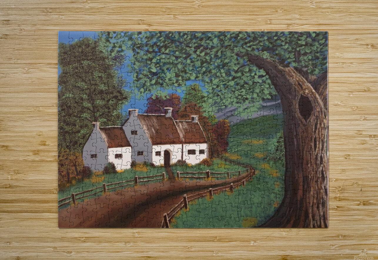Summer cottage  HD Metal print with Floating Frame on Back