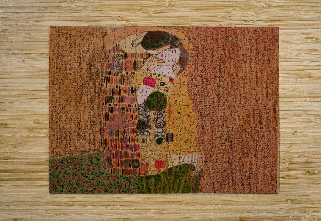 Kiss by Klimt  HD Metal print with Floating Frame on Back