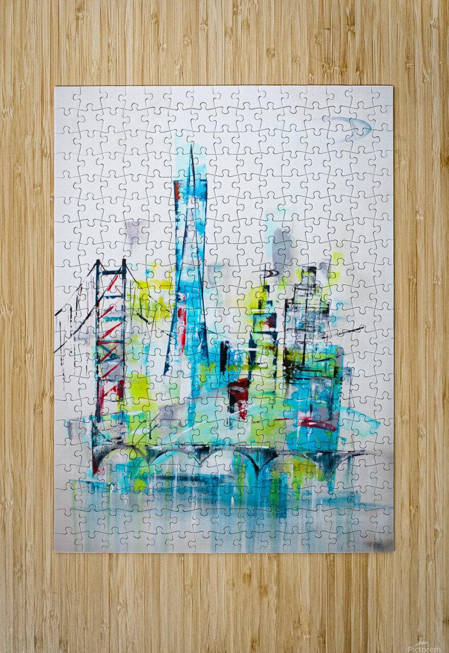 San Francisco skyline  HD Metal print with Floating Frame on Back