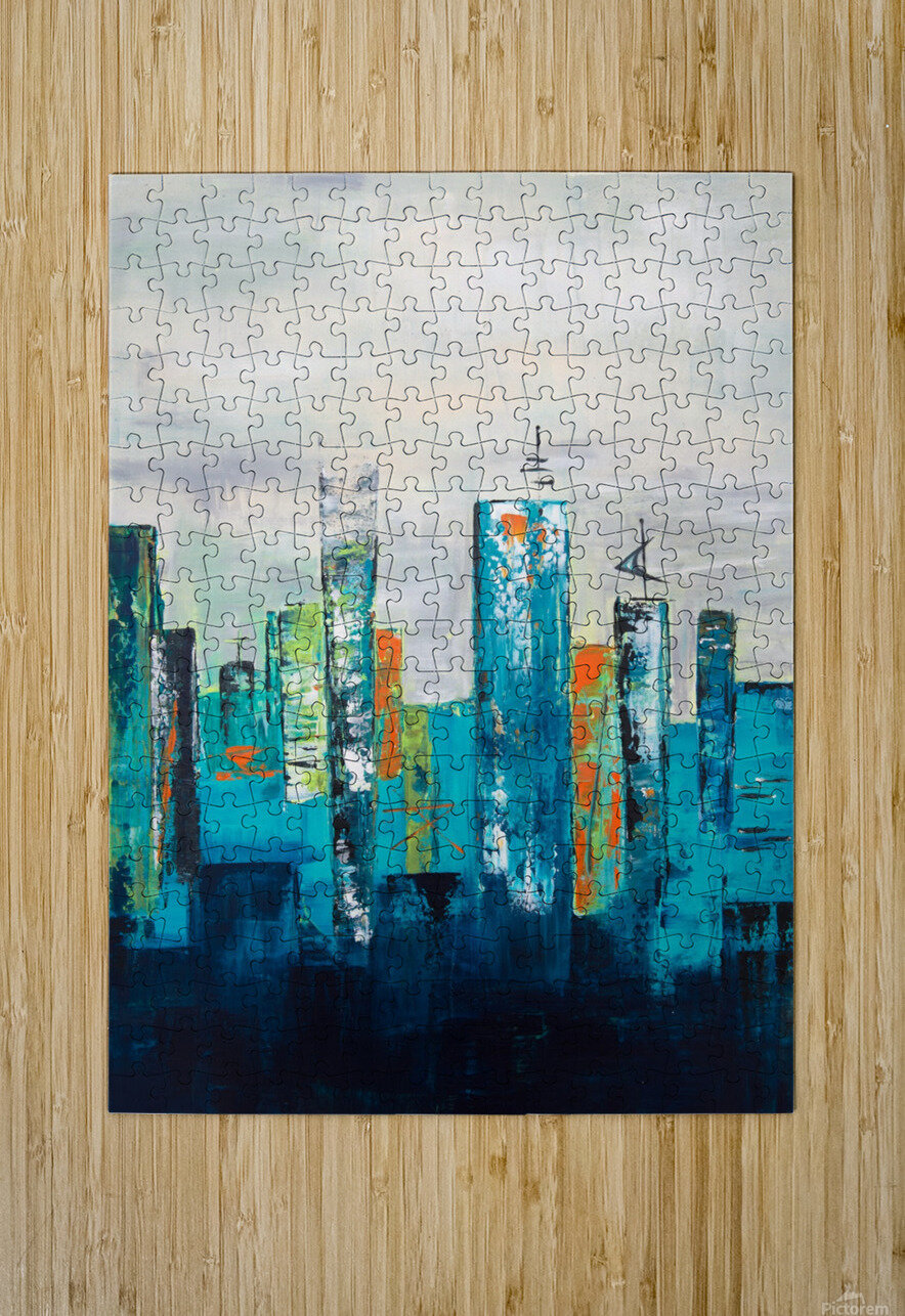 Uptown II  HD Metal print with Floating Frame on Back