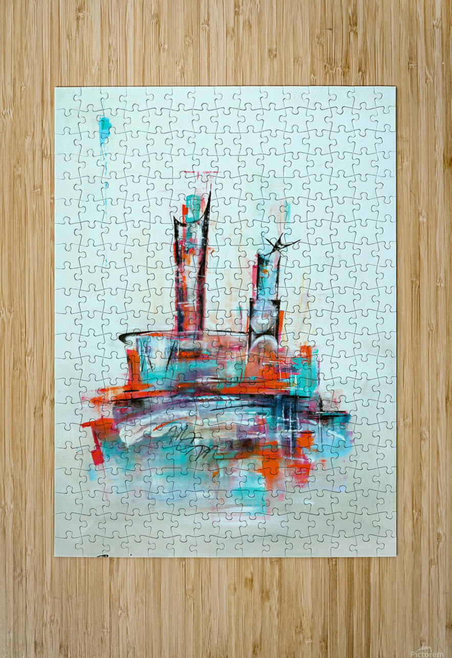 Uptown XII  HD Metal print with Floating Frame on Back