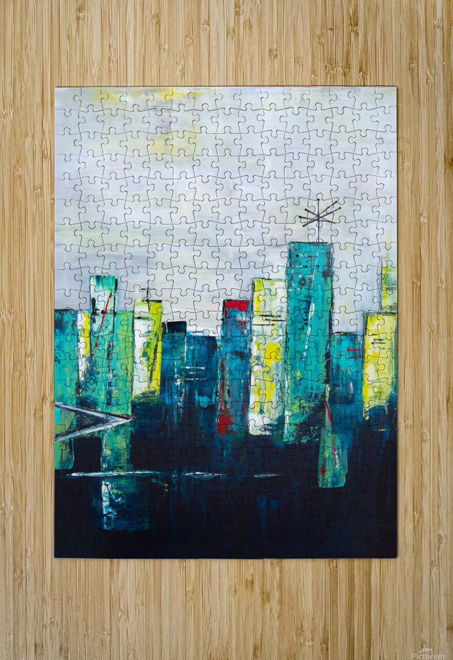 Uptown XVII  HD Metal print with Floating Frame on Back