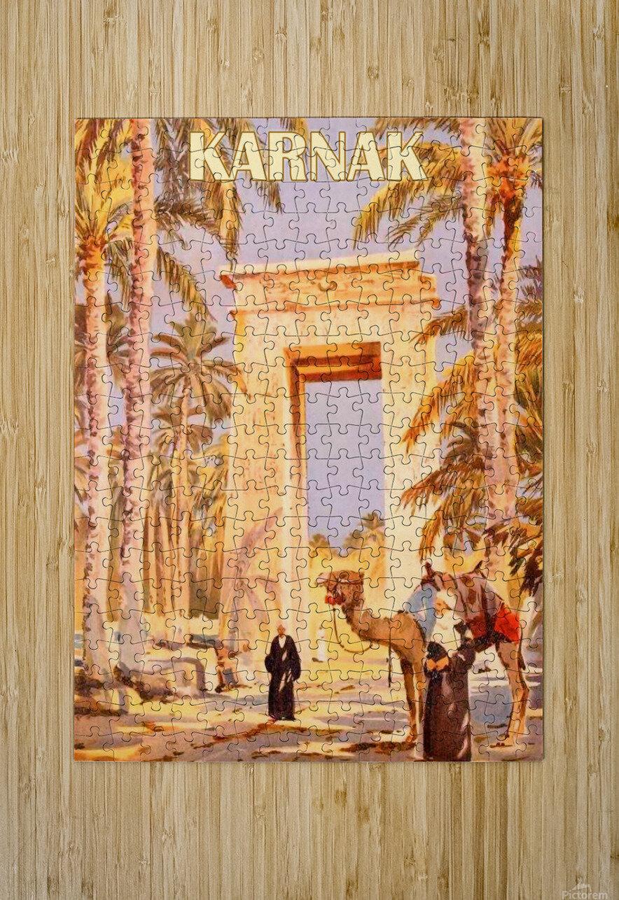 Karnak  HD Metal print with Floating Frame on Back