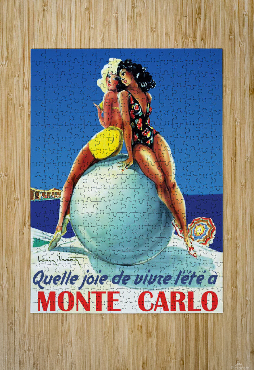 Monte carlo  HD Metal print with Floating Frame on Back