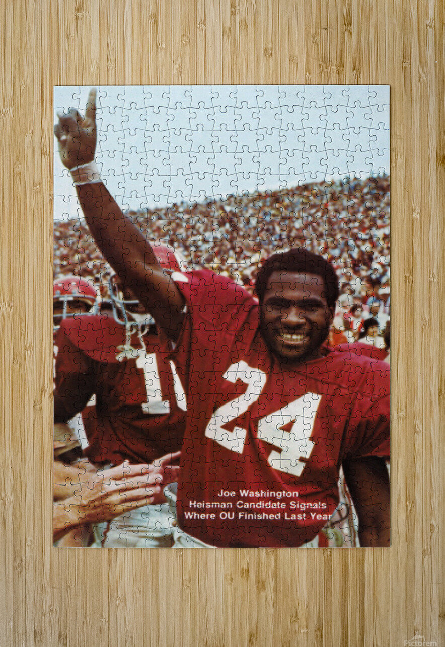 1974 oklahoma sooners football national champions poster sports wall art  HD Metal print with Floating Frame on Back