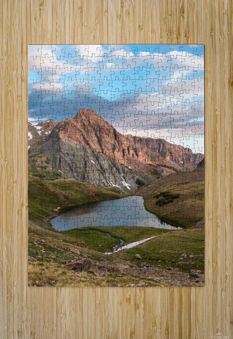 Sunrise on the Mountain  HD Metal print with Floating Frame on Back