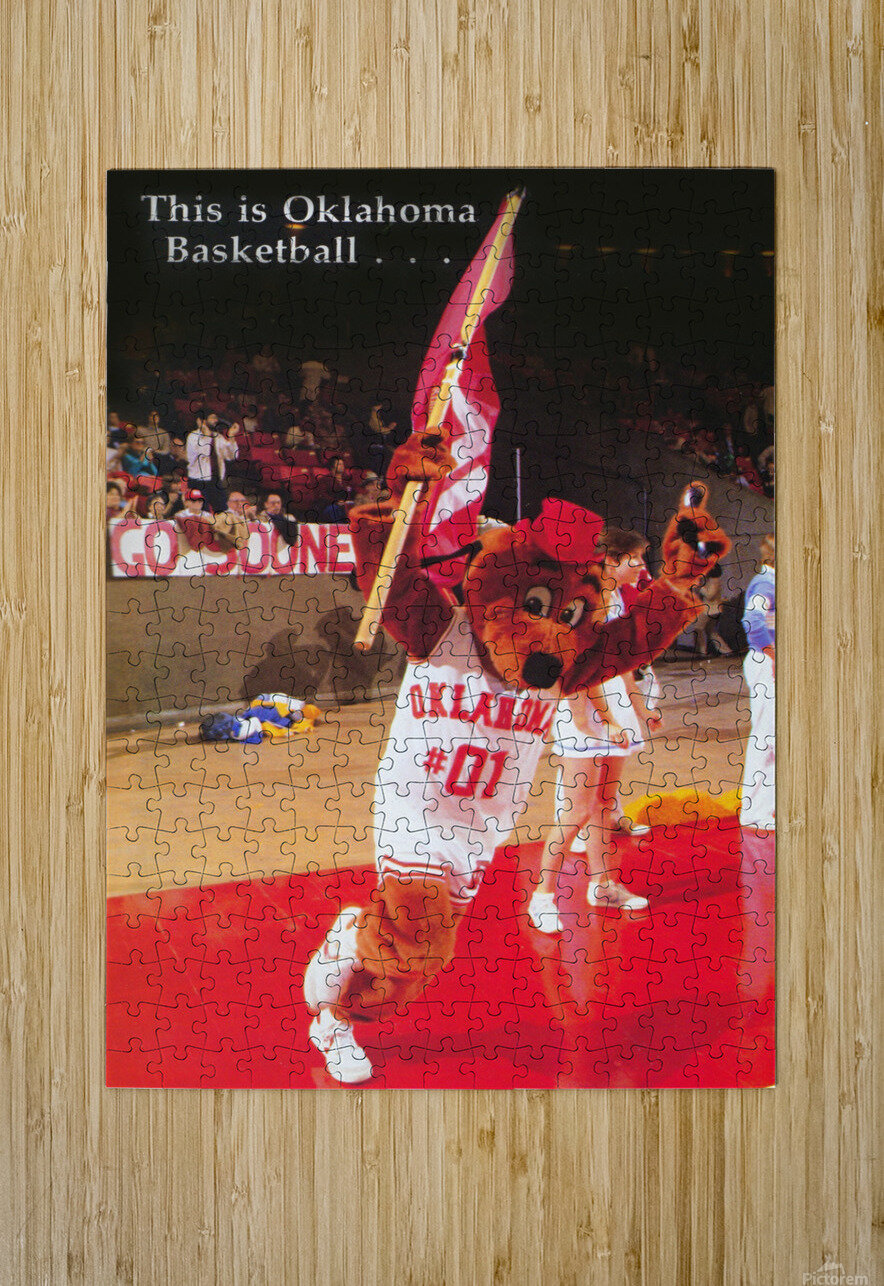 billy tubbs era top daug oklahoma sooners basketball poster prints on wood  HD Metal print with Floating Frame on Back