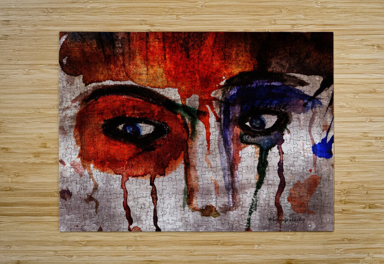 Life through her eyes  HD Metal print with Floating Frame on Back