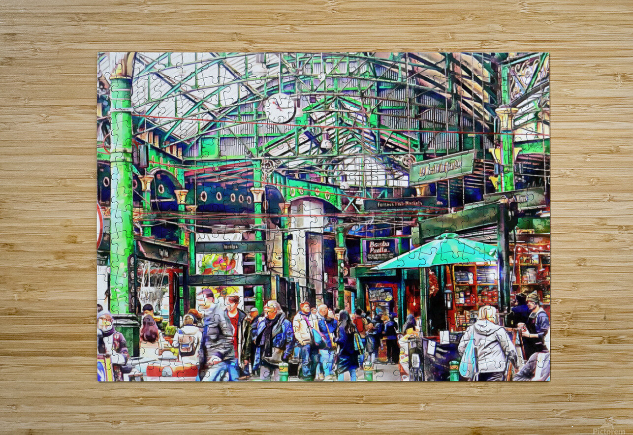 Borough Market London  HD Metal print with Floating Frame on Back