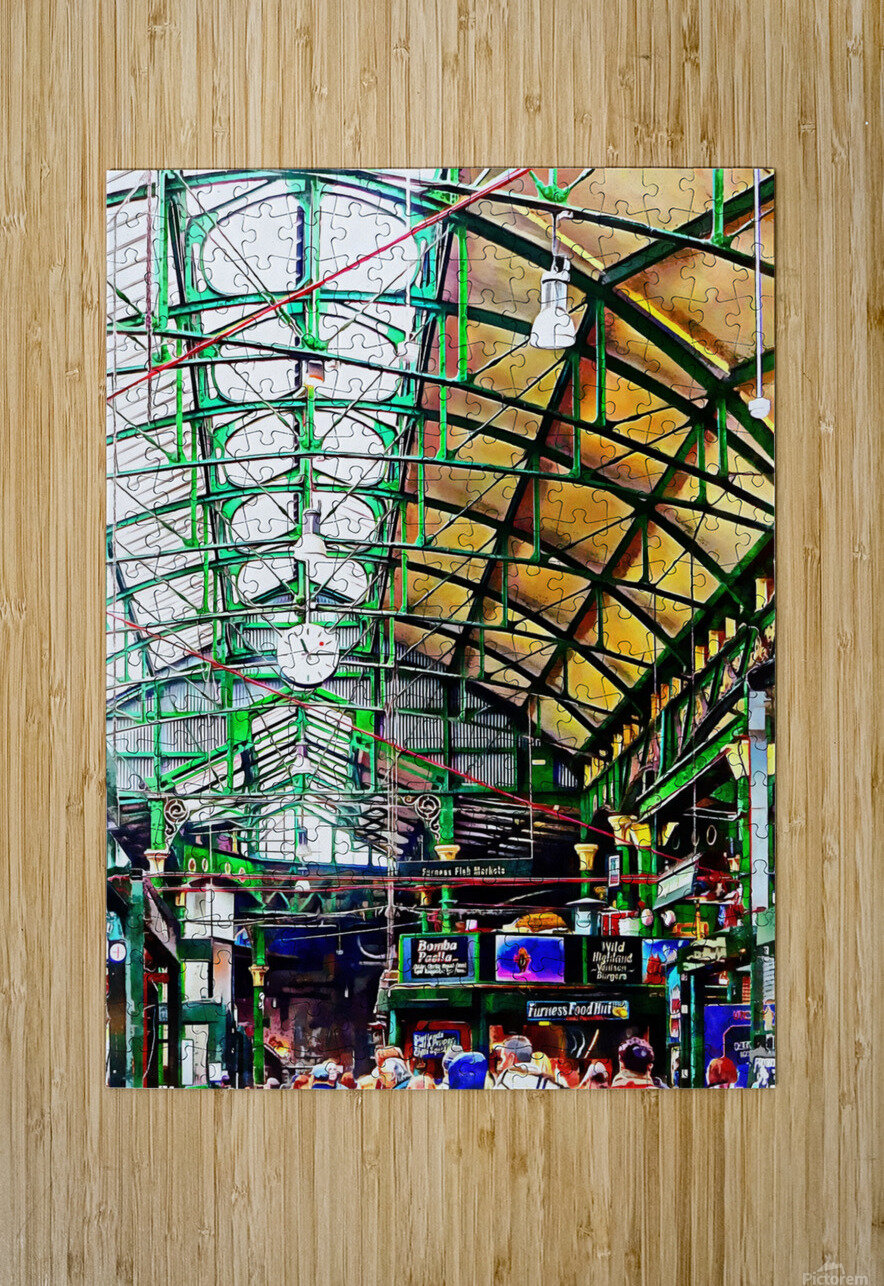 Roof Over Borough Market  HD Metal print with Floating Frame on Back