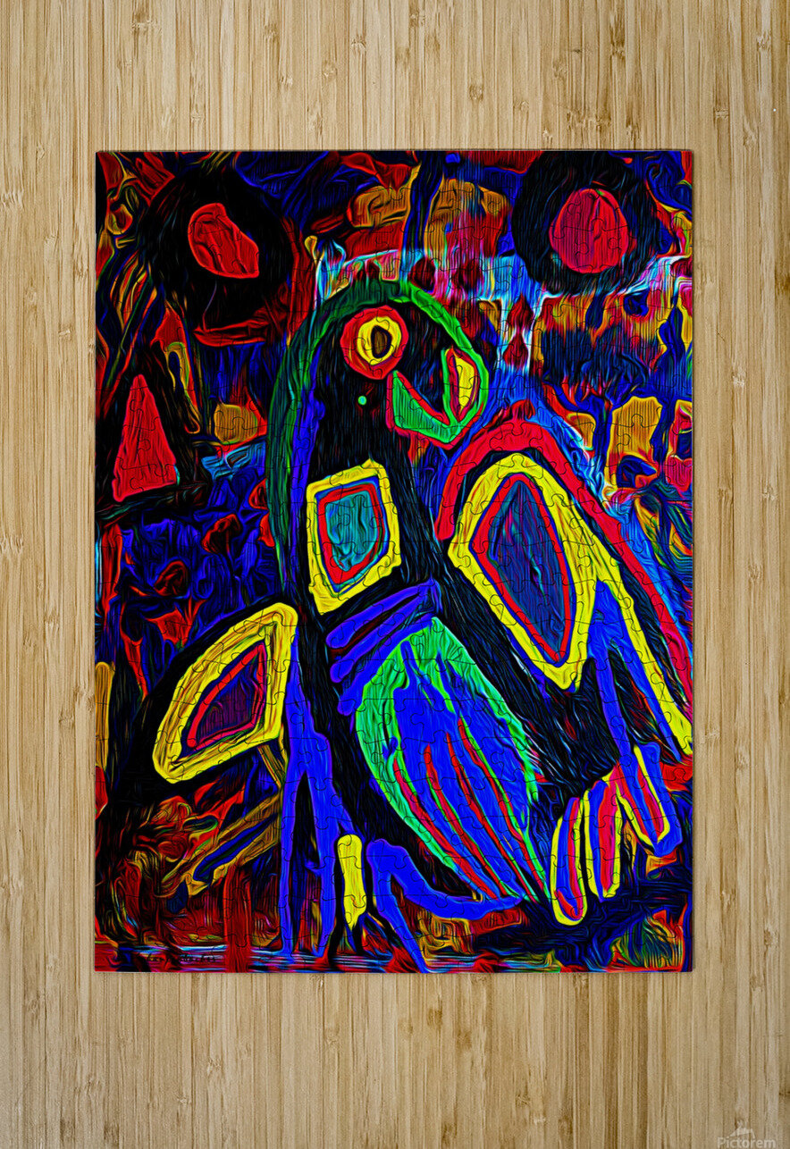Abstract Bird  HD Metal print with Floating Frame on Back