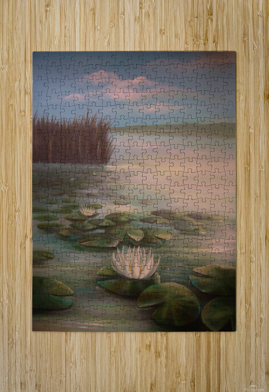 water lillies  HD Metal print with Floating Frame on Back