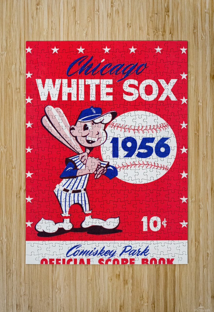 1956 chicago white sox score book canvas  HD Metal print with Floating Frame on Back