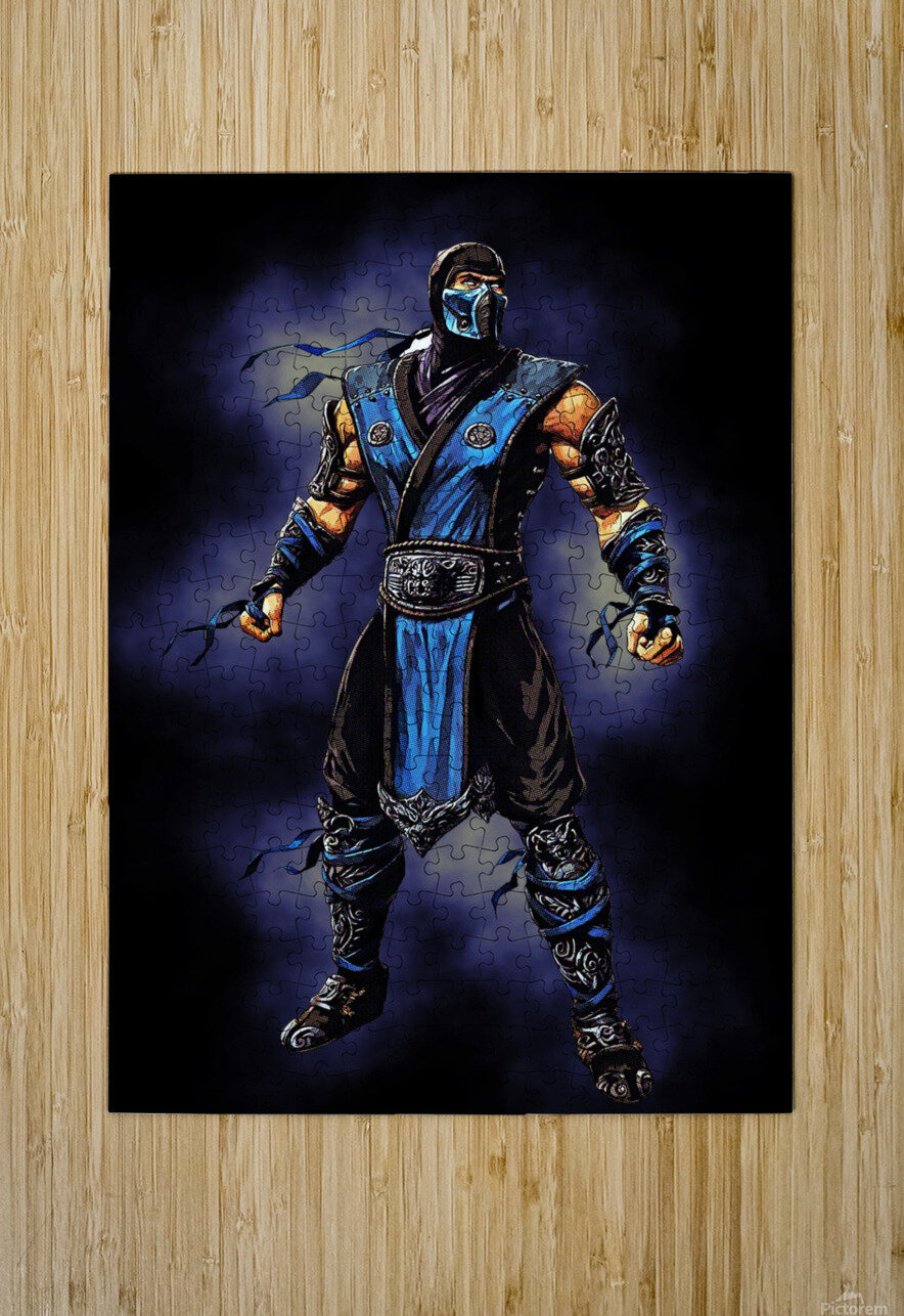 Sub Zero   Mortal Kombat  HD Metal print with Floating Frame on Back