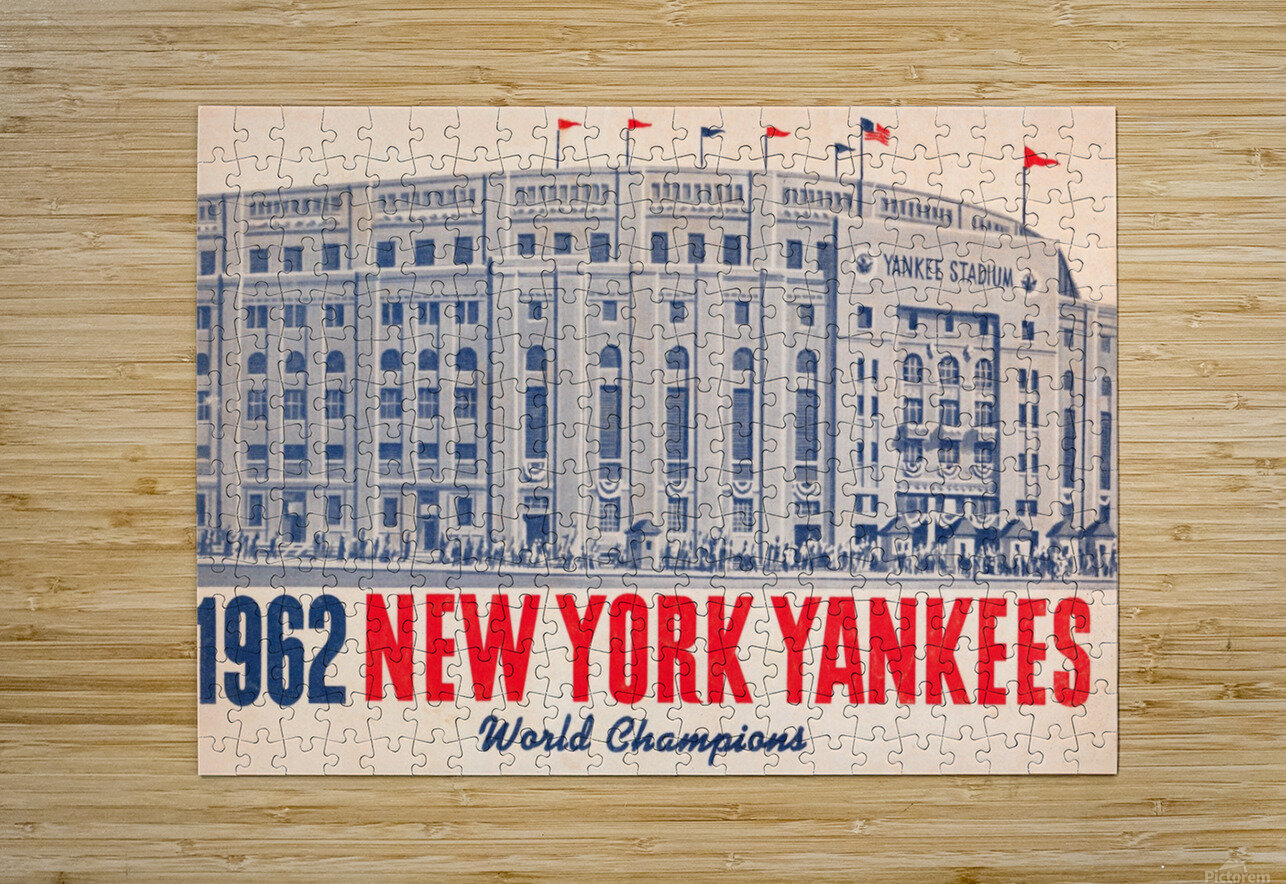 1962 new york yankees world champions  HD Metal print with Floating Frame on Back
