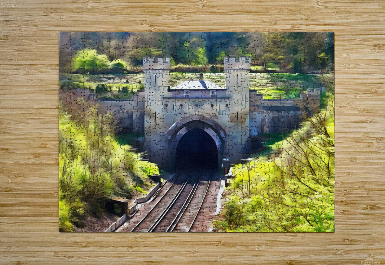 Clayton Tunnel in Sussex England  HD Metal print with Floating Frame on Back