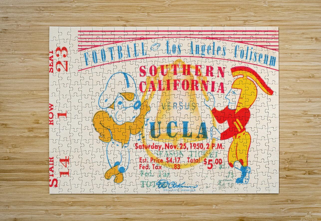 1950 usc ucla los angeles la coliseum college football sports art  HD Metal print with Floating Frame on Back