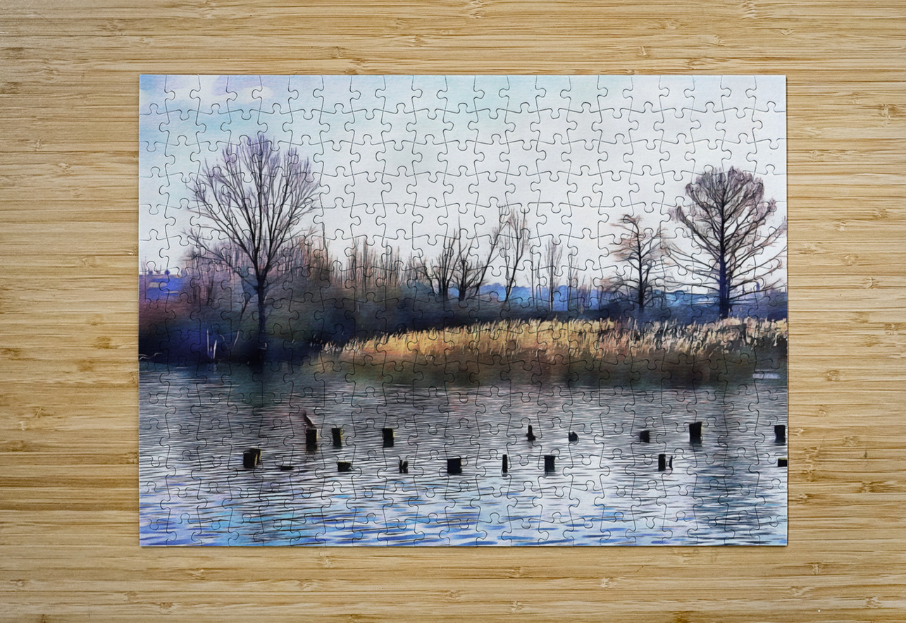 Lago di Chiusi Tuscany  HD Metal print with Floating Frame on Back