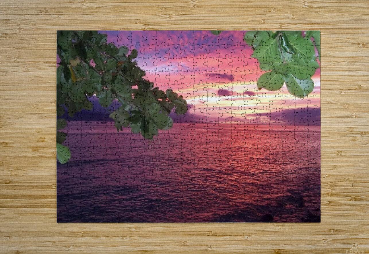 Maui Sunset  HD Metal print with Floating Frame on Back