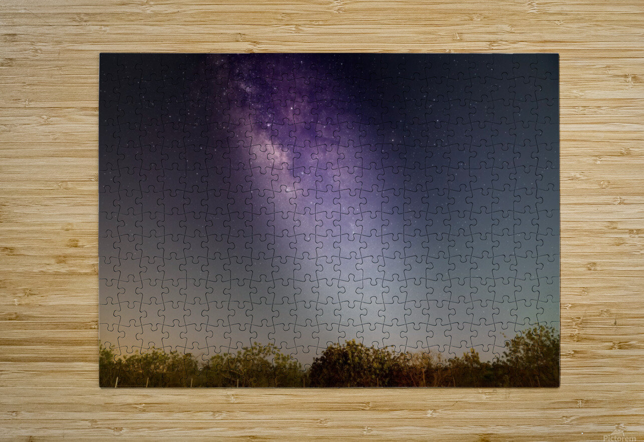 Milky Way  HD Metal print with Floating Frame on Back