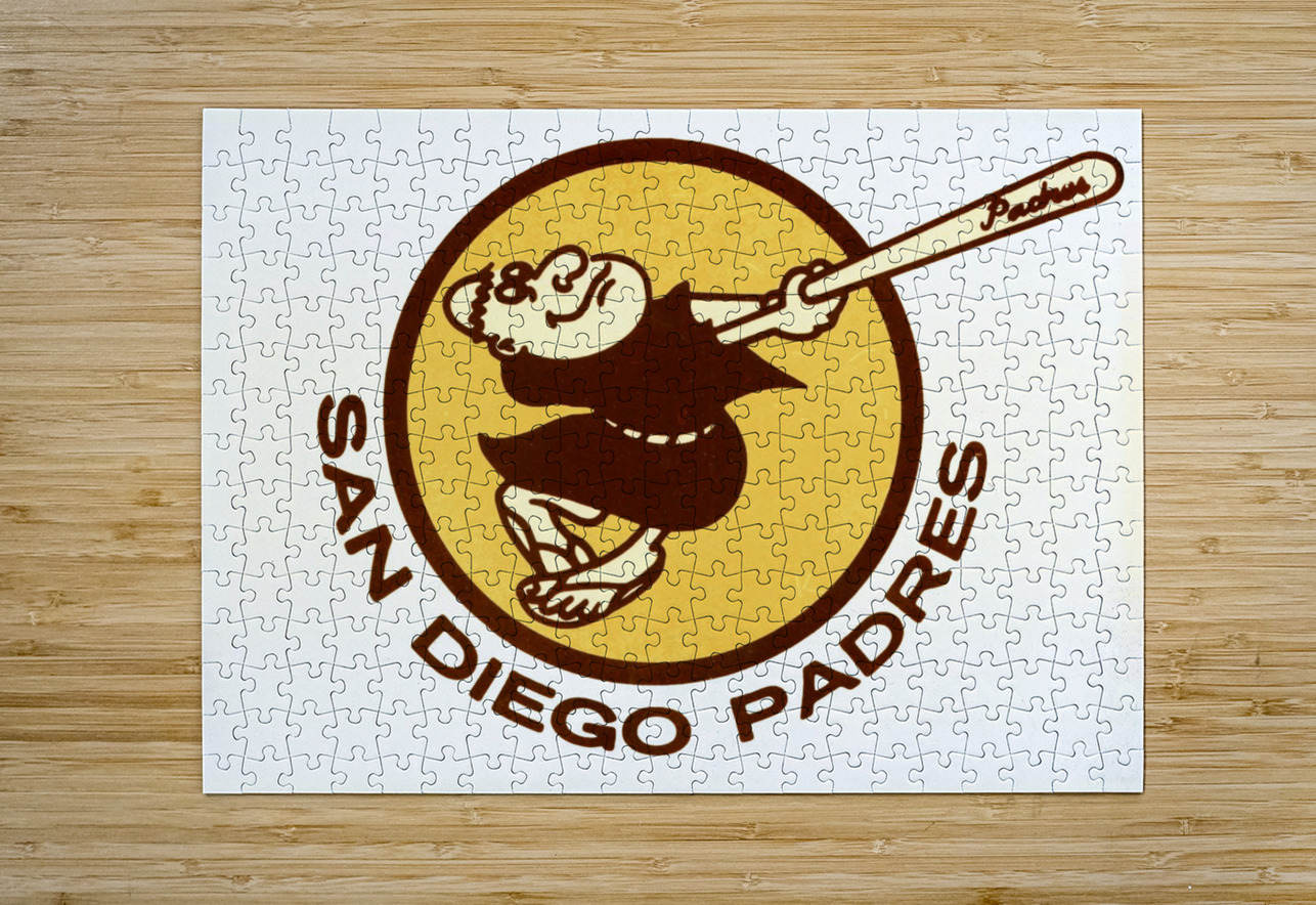 1980 san diego padres logo wall art  HD Metal print with Floating Frame on Back