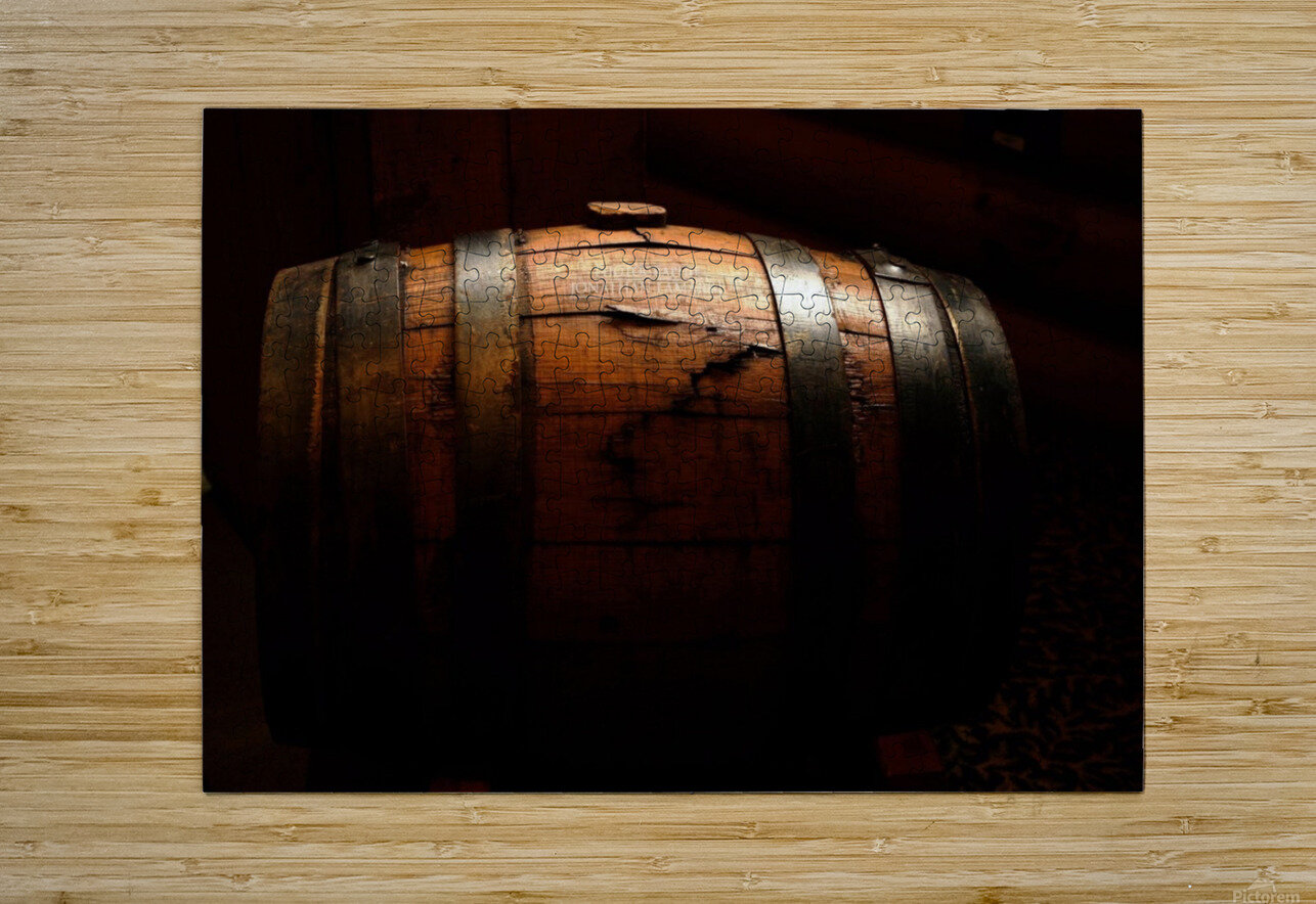 Old barrel  HD Metal print with Floating Frame on Back