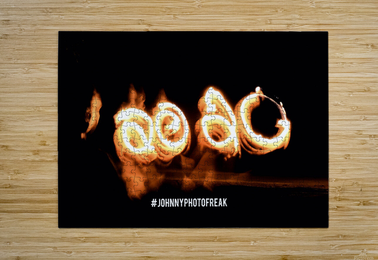 2020 Fire light painting  HD Metal print with Floating Frame on Back