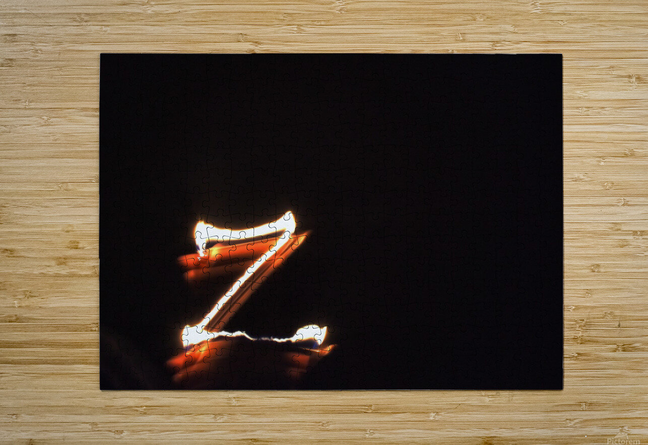 Letter Z   HD Metal print with Floating Frame on Back