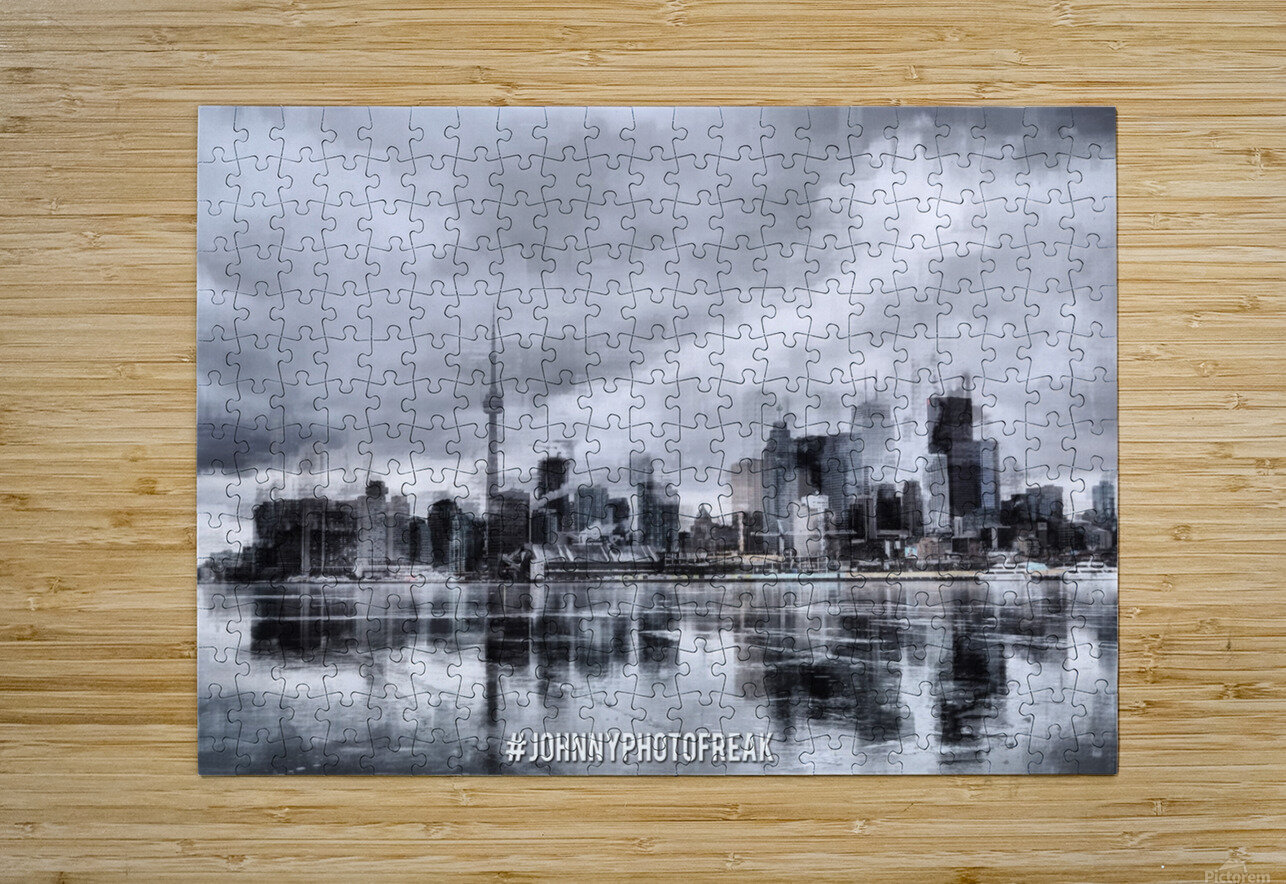 Toronto on the ice   HD Metal print with Floating Frame on Back