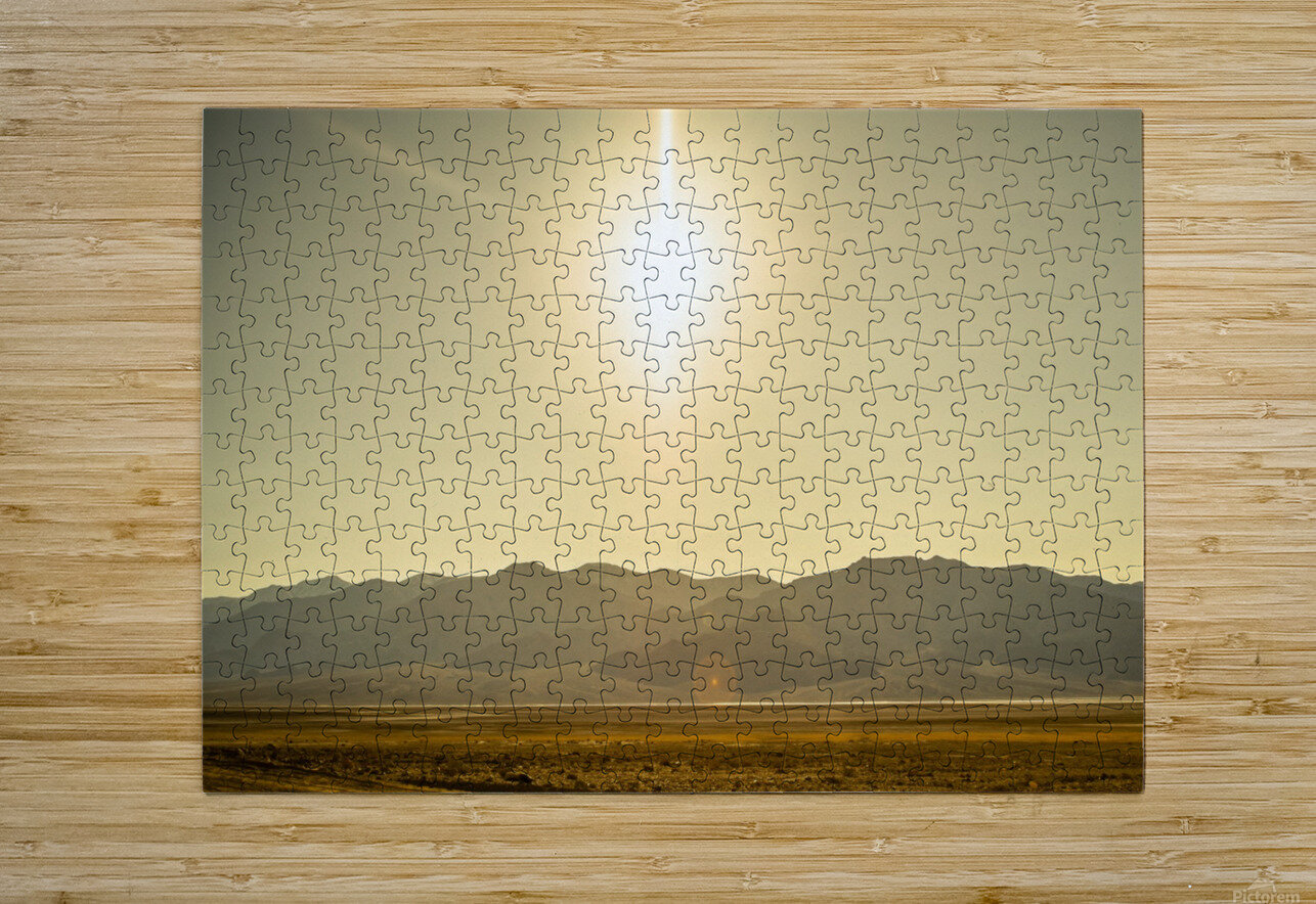 Desert Sun   HD Metal print with Floating Frame on Back