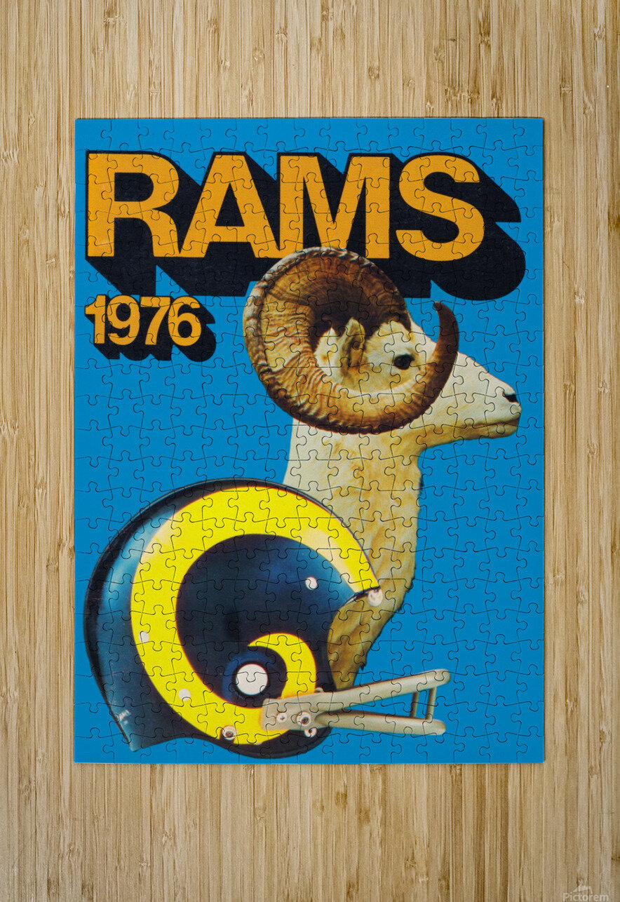 1976 Rams  HD Metal print with Floating Frame on Back
