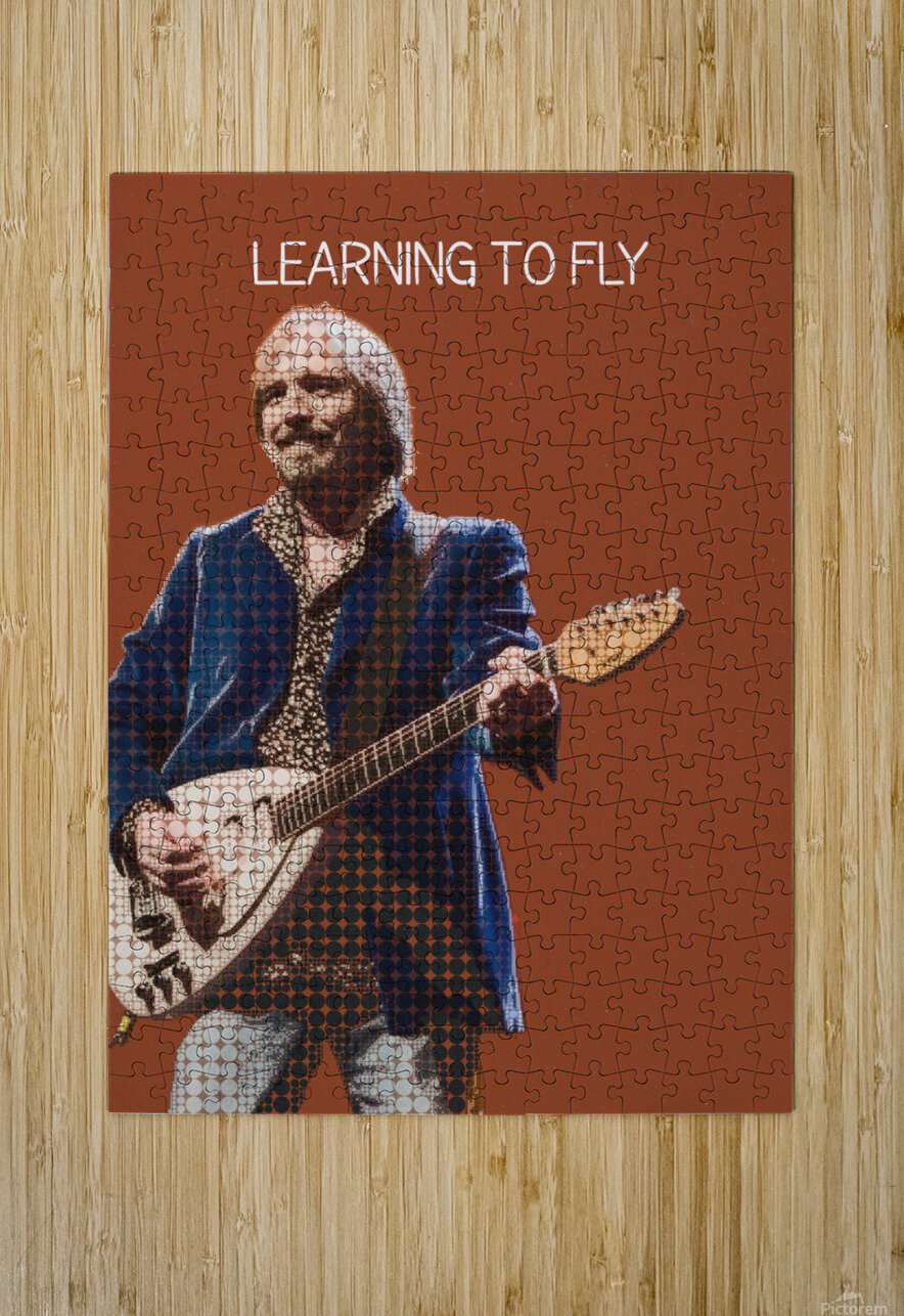 Learning To Fly   Tom Petty & the Heartbreakers  HD Metal print with Floating Frame on Back