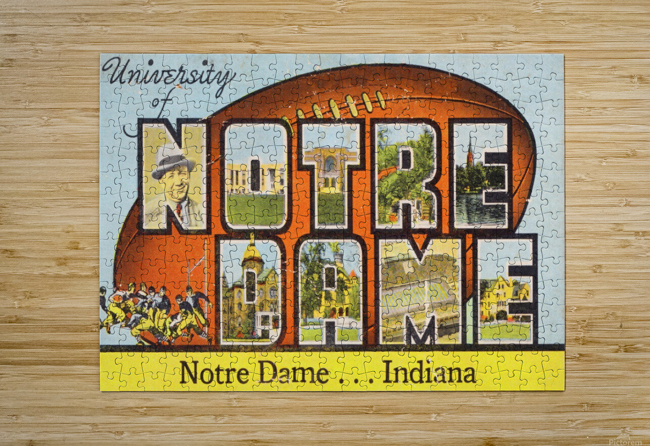 1954 notre dame football south bend art  HD Metal print with Floating Frame on Back