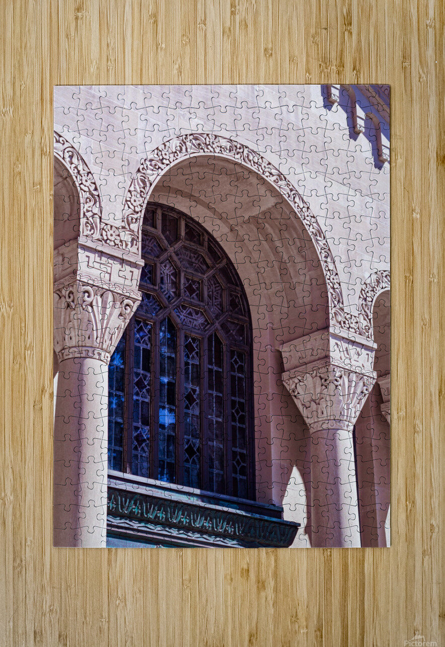 Foster Memorial Window  HD Metal print with Floating Frame on Back