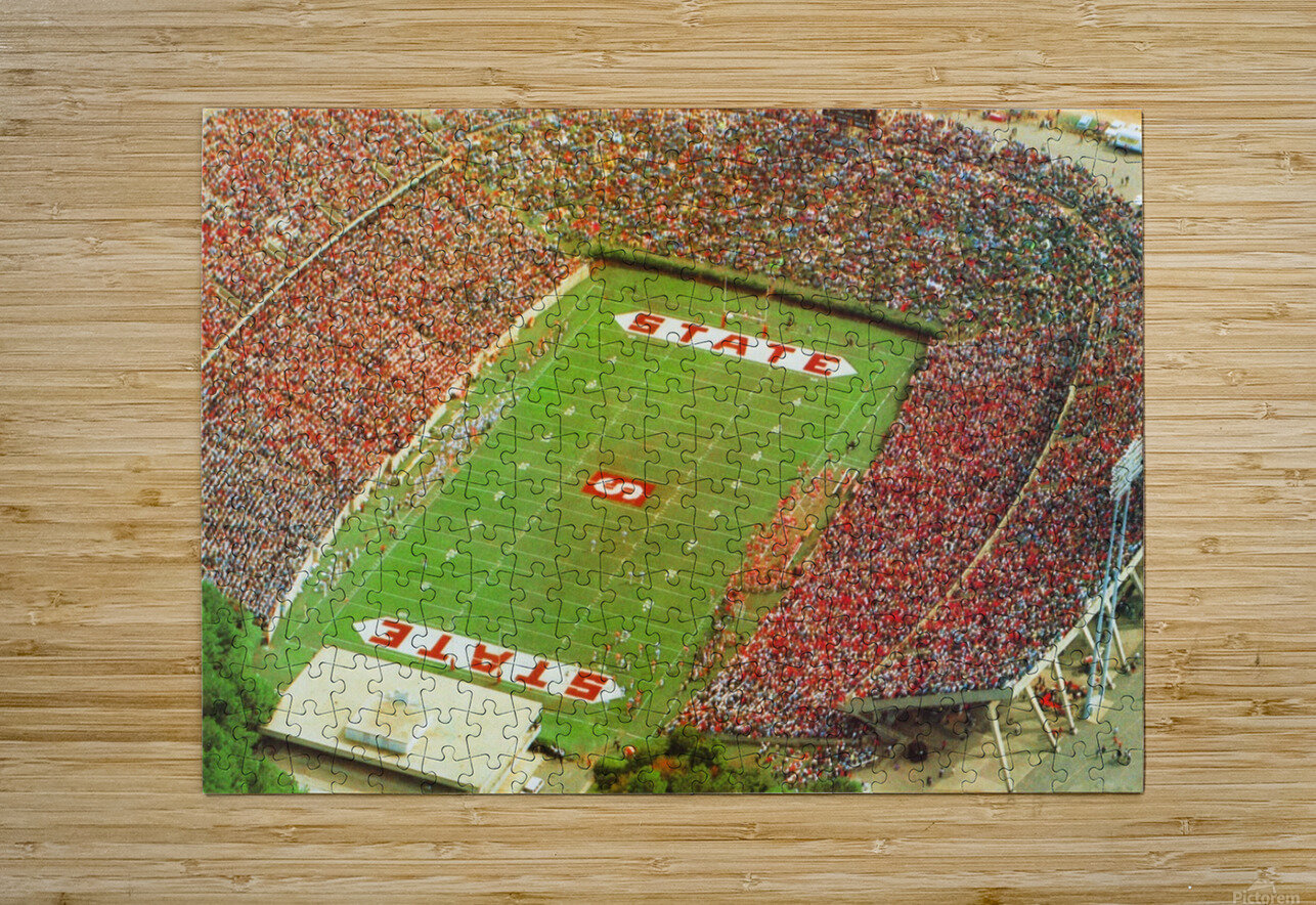1985 nc state wolfpack carter finley stadium raleigh north carolina college football aerial photo  HD Metal print with Floating Frame on Back