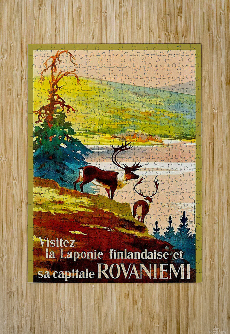 Rovaniemi  HD Metal print with Floating Frame on Back