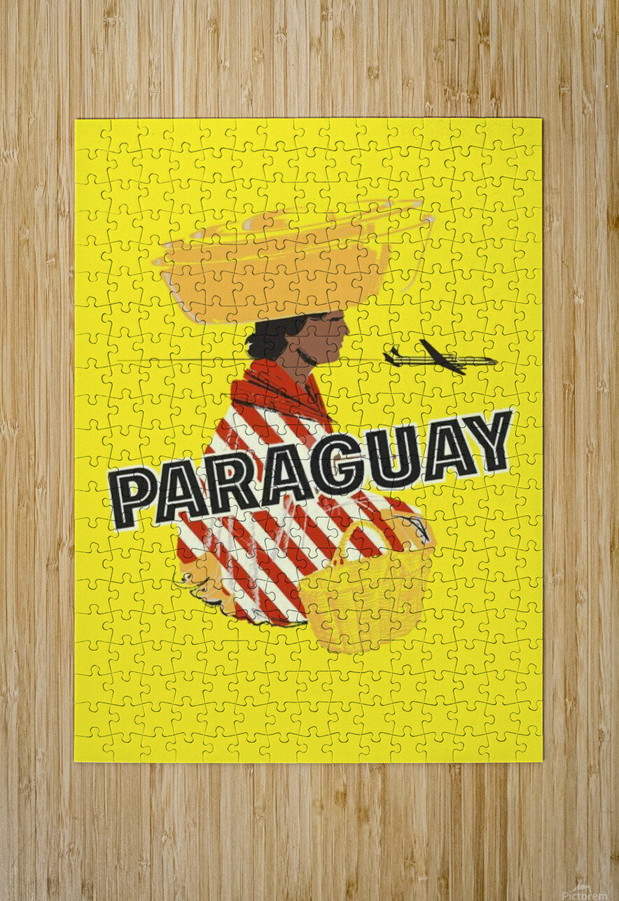 Paraguay  HD Metal print with Floating Frame on Back