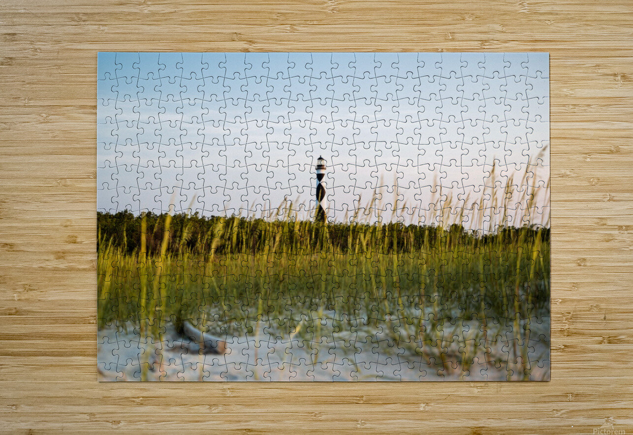 Lighthouse at Dawn  HD Metal print with Floating Frame on Back
