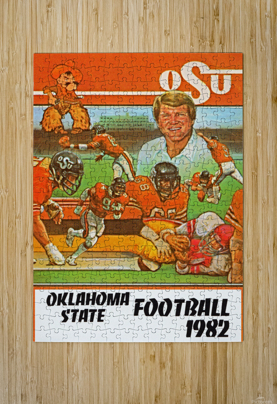 1982 oklahoma state cowboys football  HD Metal print with Floating Frame on Back