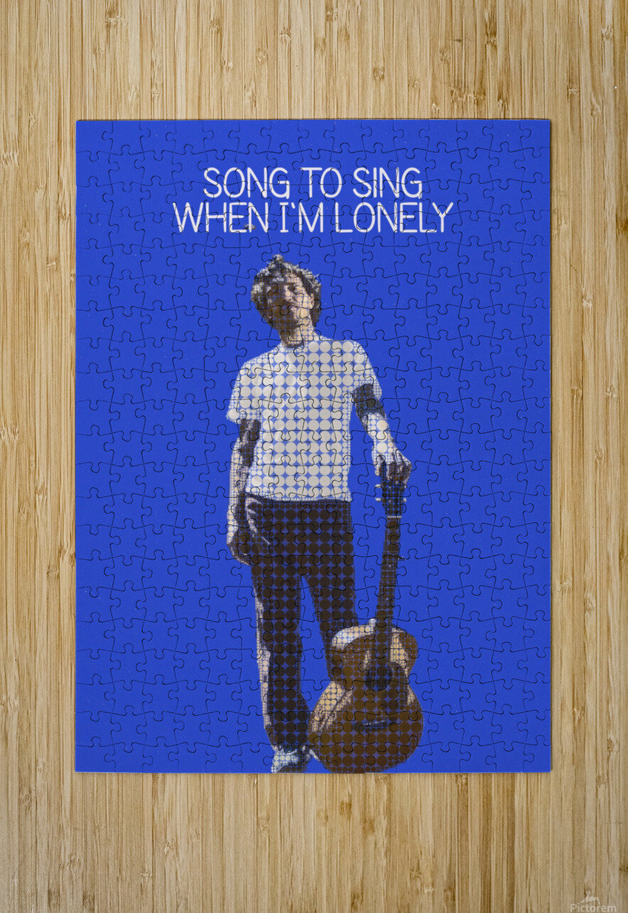 Song To Sing When Im Lonely   John Frusciante  HD Metal print with Floating Frame on Back