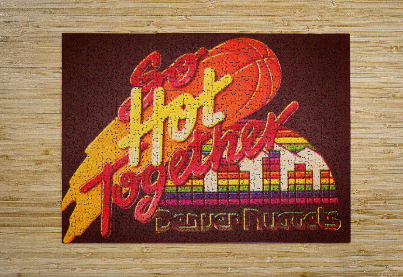 1988_National Basketball Association_Denver Nuggets  HD Metal print with Floating Frame on Back