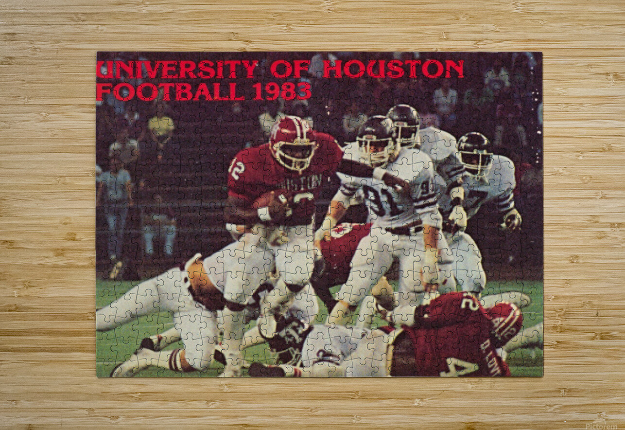 1983 houston cougars football  HD Metal print with Floating Frame on Back