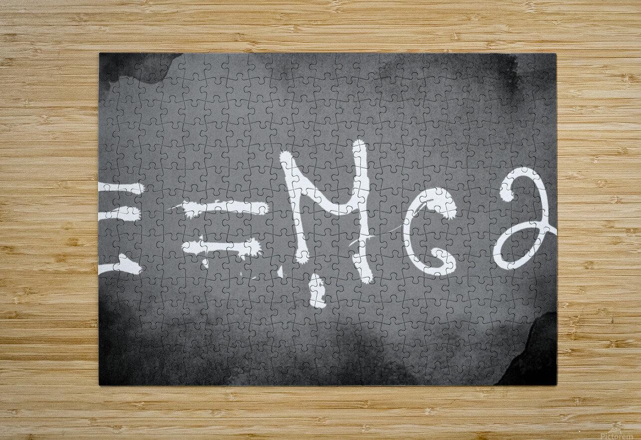 E=mc2  HD Metal print with Floating Frame on Back