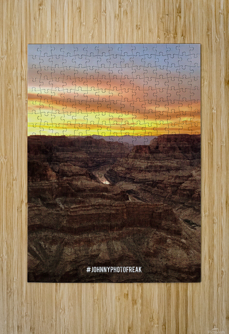 Canyon Sunset  HD Metal print with Floating Frame on Back